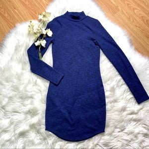 Express Blue Sweater Dress Small